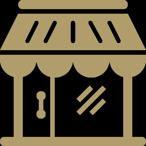 Façade et intérieur de magasin